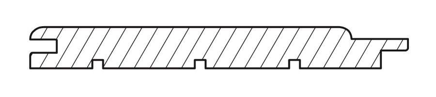 Вагонка кедр софтлайн 15х140